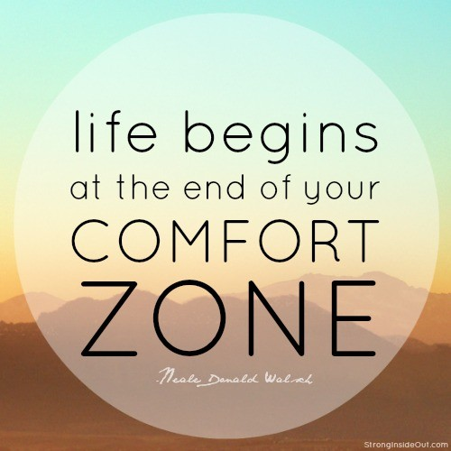 Success starts when you leave your comfort zone business for Confort zone