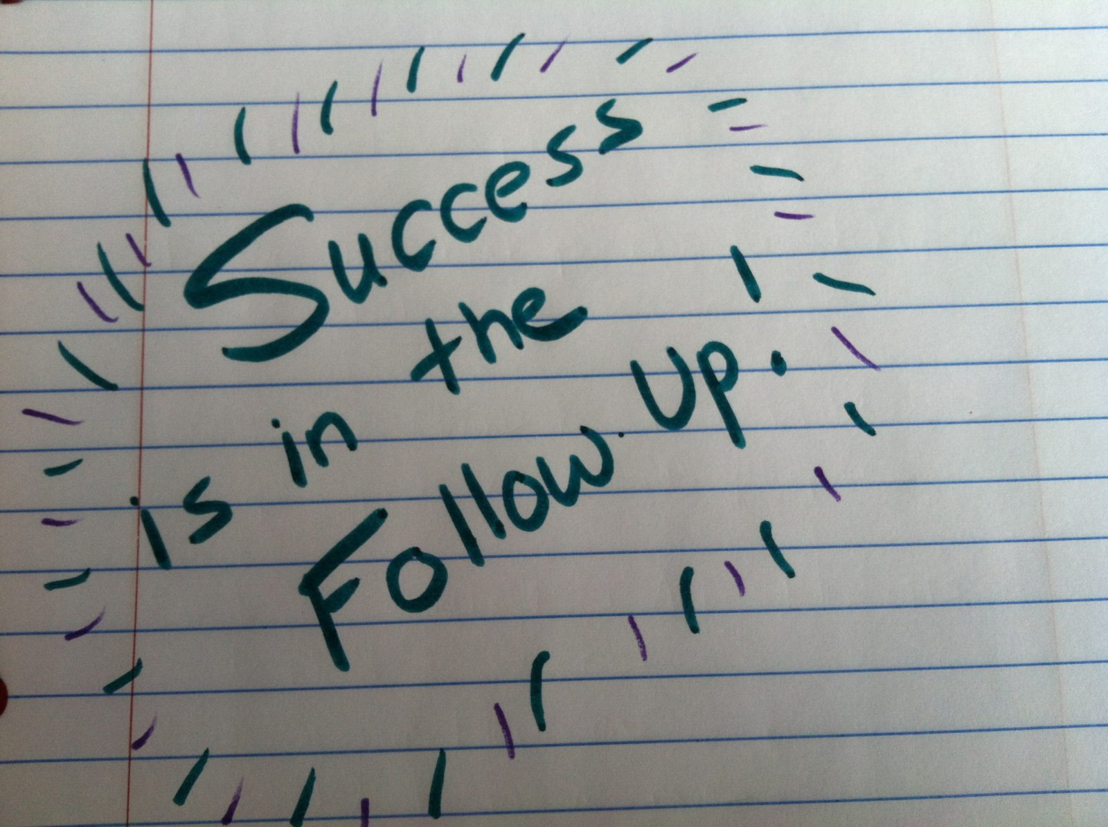 Success-Is-In-The-Follow-Up